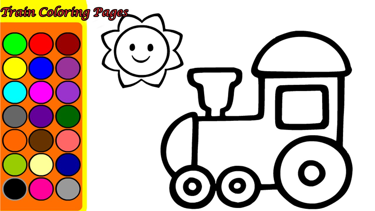1280x720 Train Coloring Pages Game Games Song Nursery Rhymes For Kids Sheet