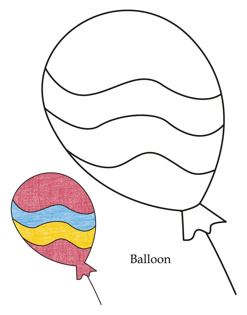 792x1008 Balloon Coloring Pages Discover All Of