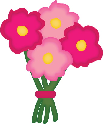 340x412 Bouquet Of Flowers Clipart Clipartlook