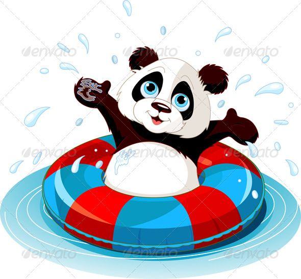 590x547 Summer Fun Panda Summer Fun, Panda And Clip Art