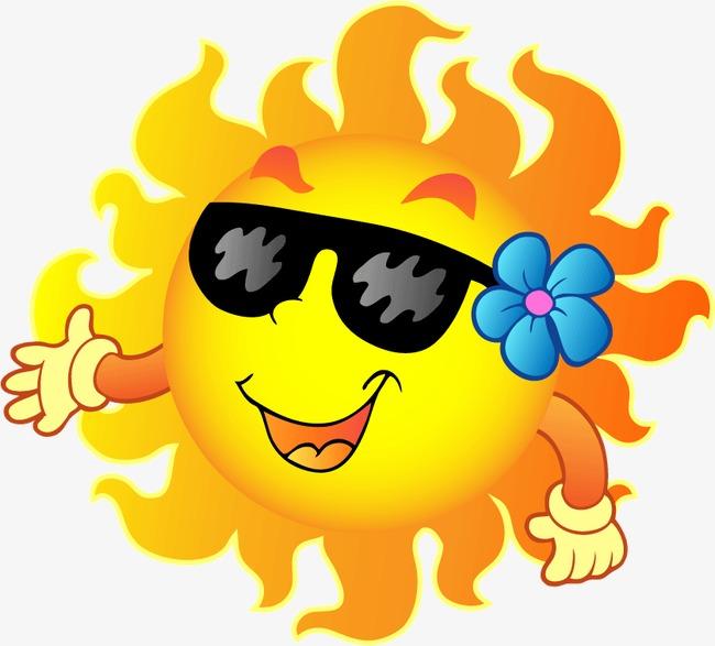 650x587 Cartoon Smiling Sun Vector Illustration, Cartoon Sun, Sun, Sun