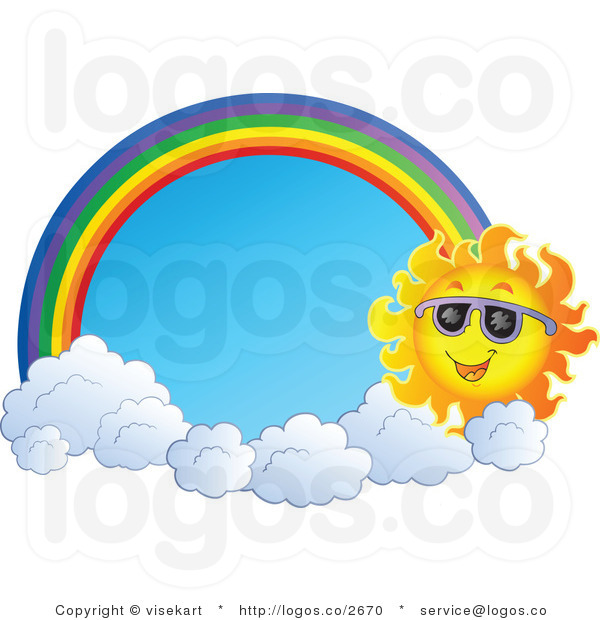 600x620 Rainbow And Sun Clipart Clipart Panda