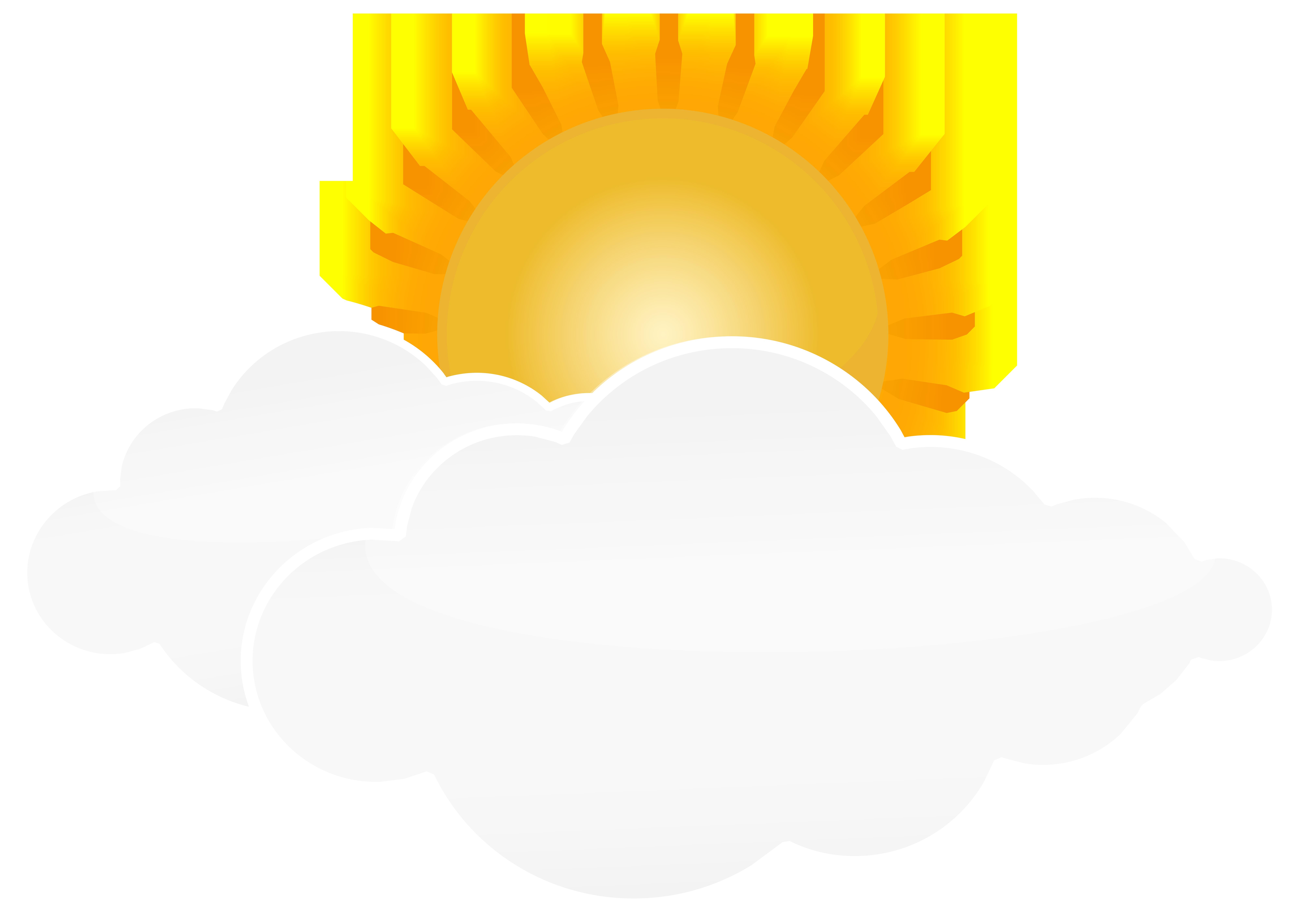 8000x5673 Sun With Clouds Png Transparent Clip Art Imageu200b Gallery