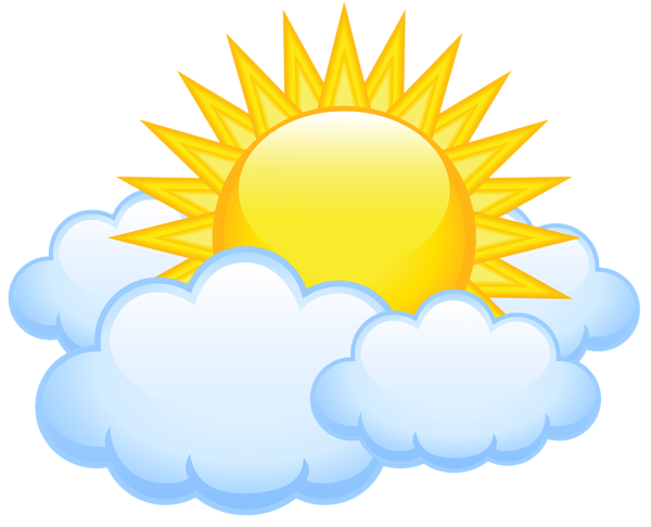 600x486 Sun With Clouds Transparent Png Picture Klipart