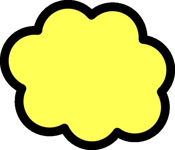 600x514 Yellow Cloud Clip Art