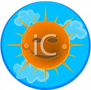 300x298 Clip Art Smiling Sun With Clouds Clipart