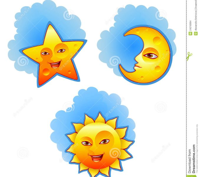 678x600 Pictures Of The Sun Moon And Stars Kids Coloring
