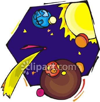 345x350 The Sun, Moon And Earth Clip Art