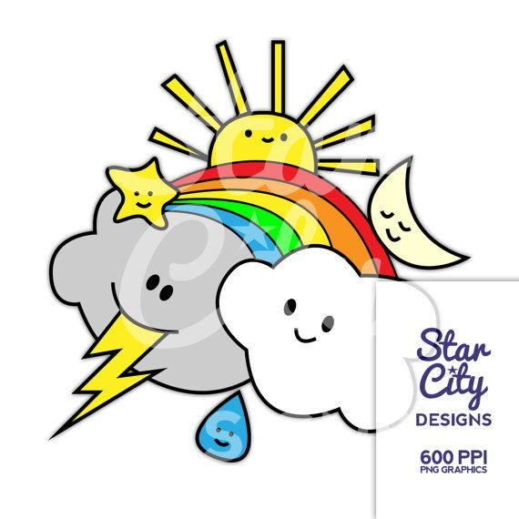 570x570 Weather Clipart Sky Clip Art Sun Clipart Moon By Starcitydesigns