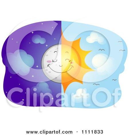 450x470 Clipart Of A Happy Sun Mascot Over Sunny Text