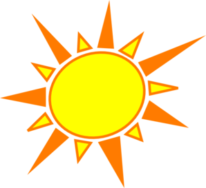 298x273 Yellow And Orange Sun Clip Art