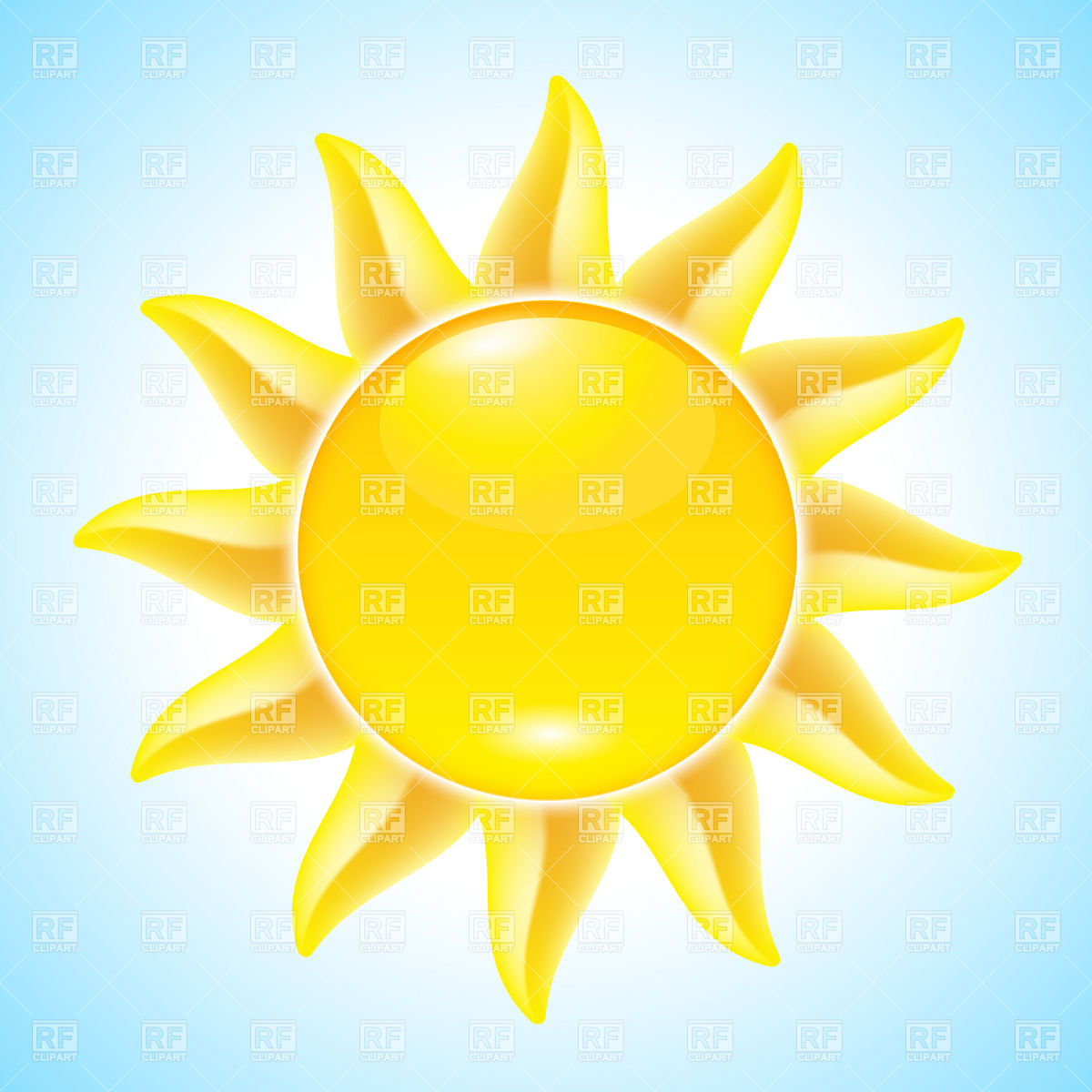 1200x1200 Hot Summer Sun Icon Vector Image Vector Artwork Of Icons