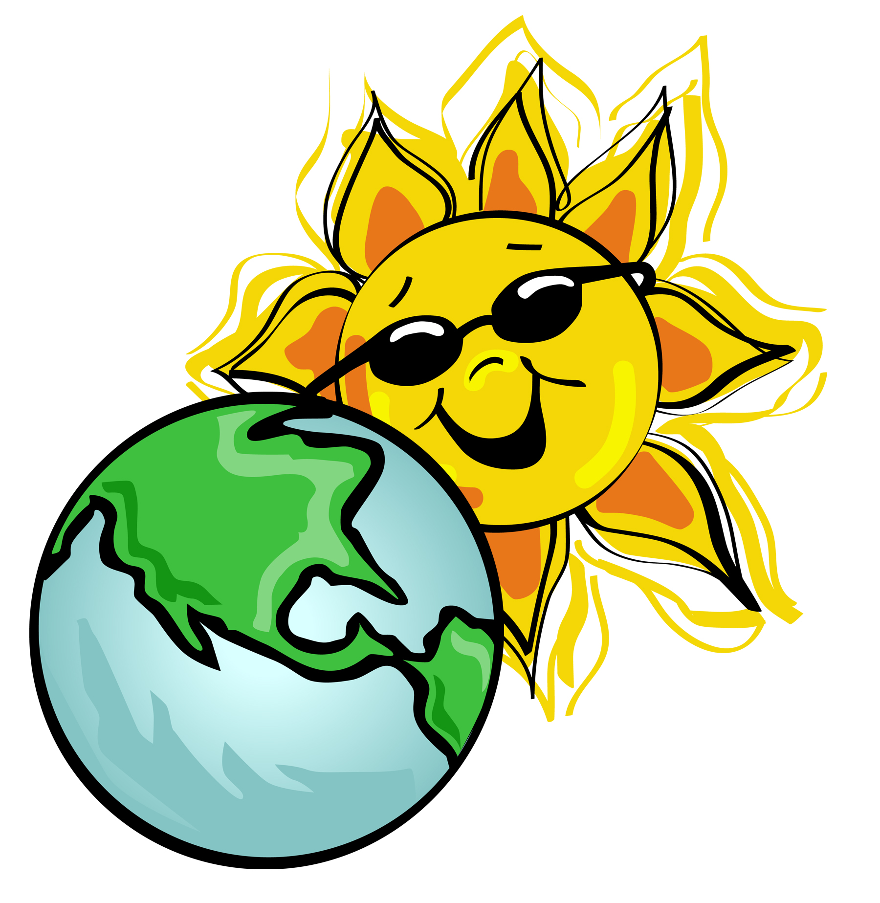 1800x1847 Earth And Sun Clipart