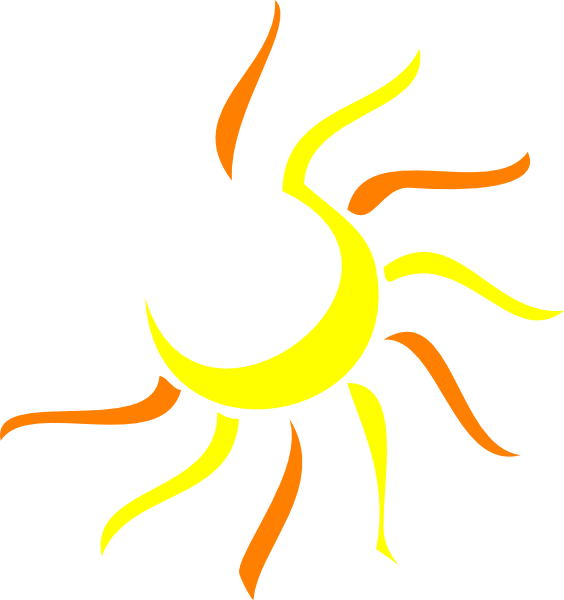 564x600 Sunlight Clipart Simple Sun