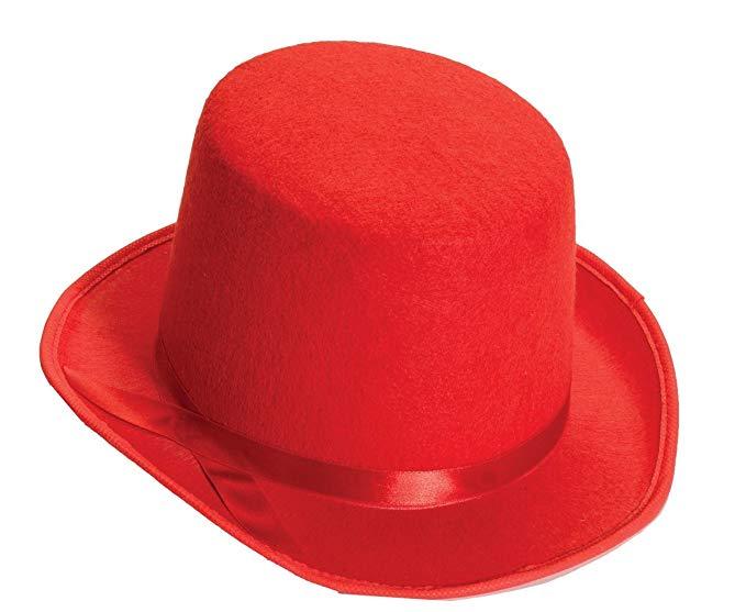 679x557 Forum Novelties Men's Deluxe Adult Novelty Top Hat, Pink, One Size