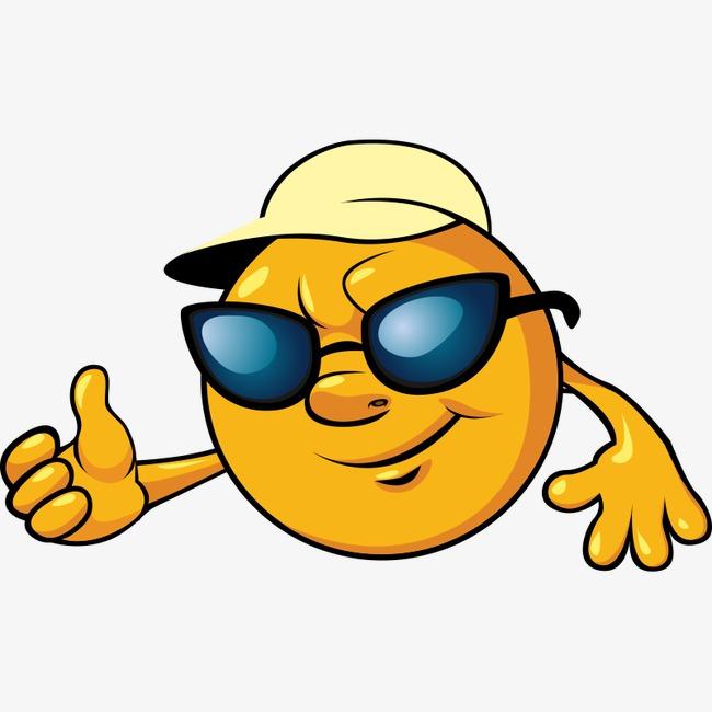 650x650 Hat Sun Glasses, Sun, Cartoon, Hand Painted Sun Png Image