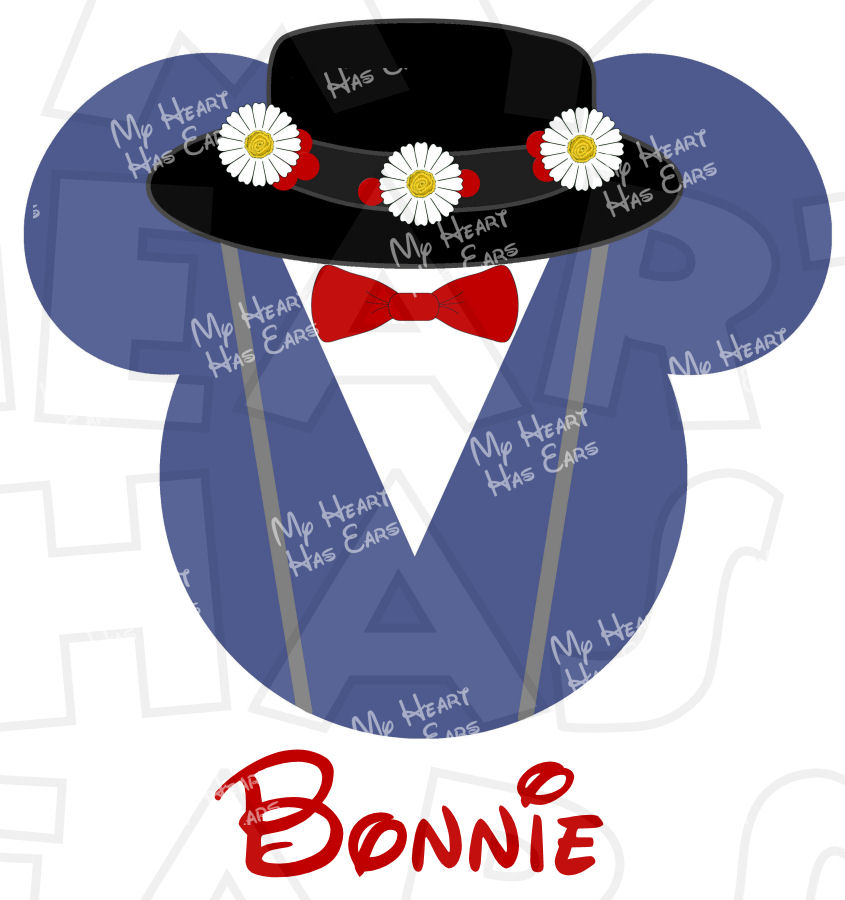 845x900 Mary Poppins Mickey Mouse Head Instant Download Digital Clip Art