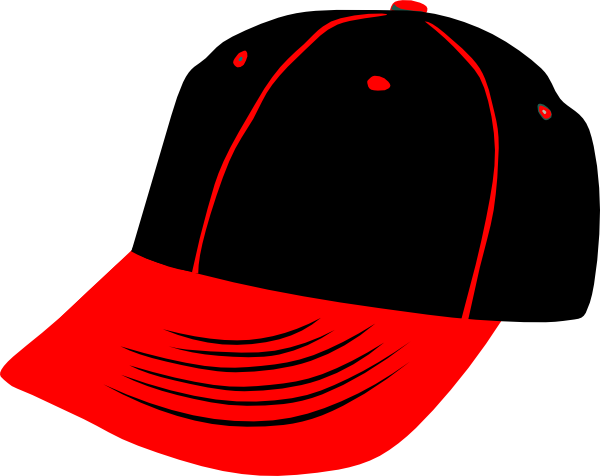 600x476 Red Black Hat Clip Art