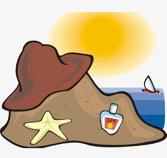 561x528 Sea Views, Hat, Sandy Beach, Sun Png Image And Clipart For Free