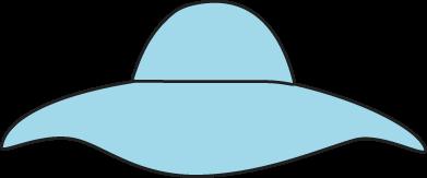 391x163 Blue Sun Hat Clip Art