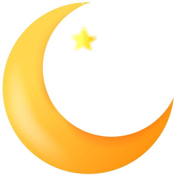 600x600 Crescent Moon Clipart
