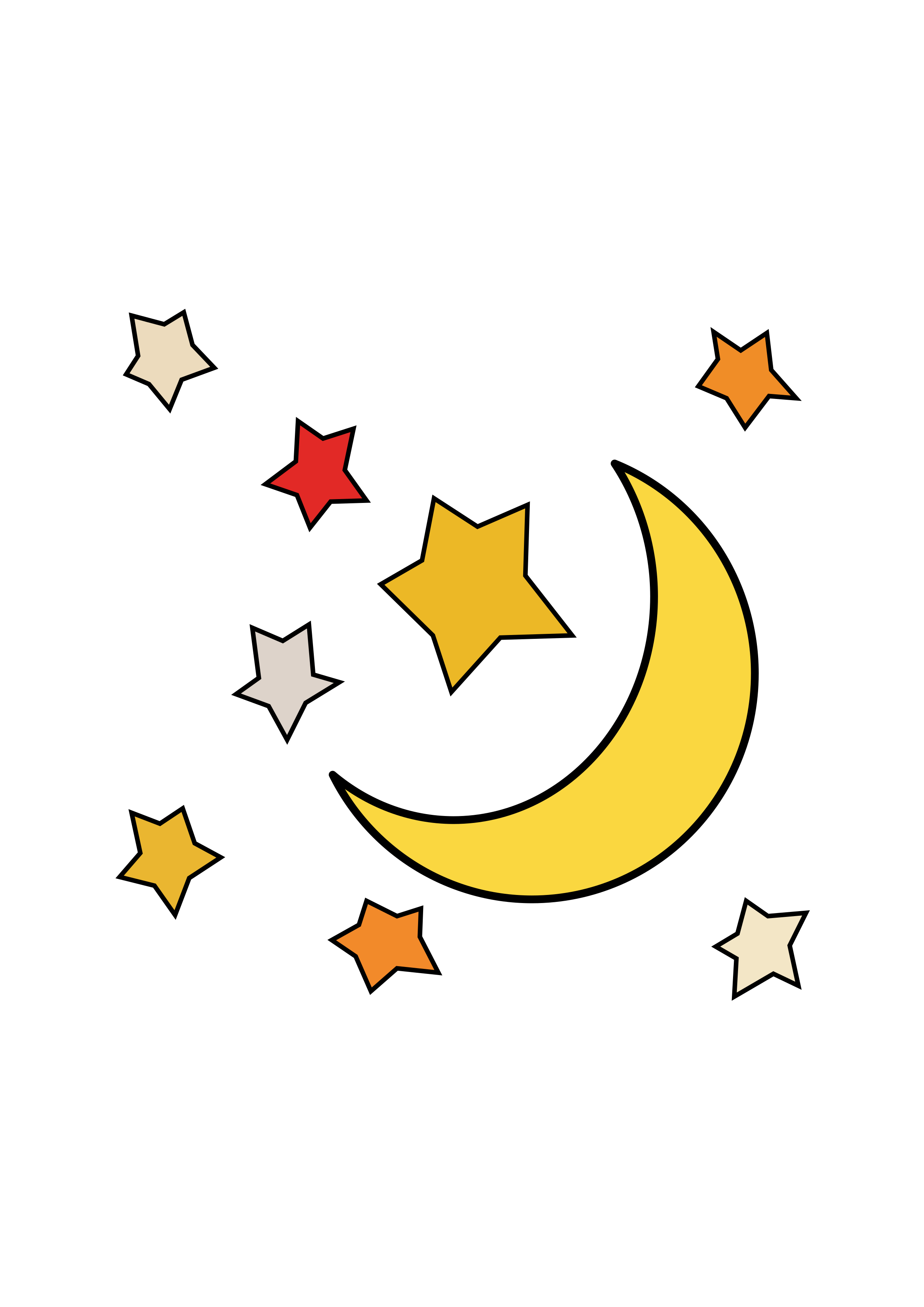 2400x3394 Moon And Stars 1 Icons Png