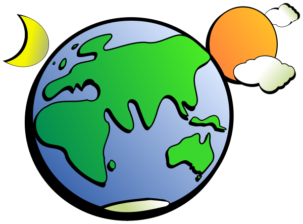 600x443 Collection Of Earth And Moon Clipart High Quality, Free