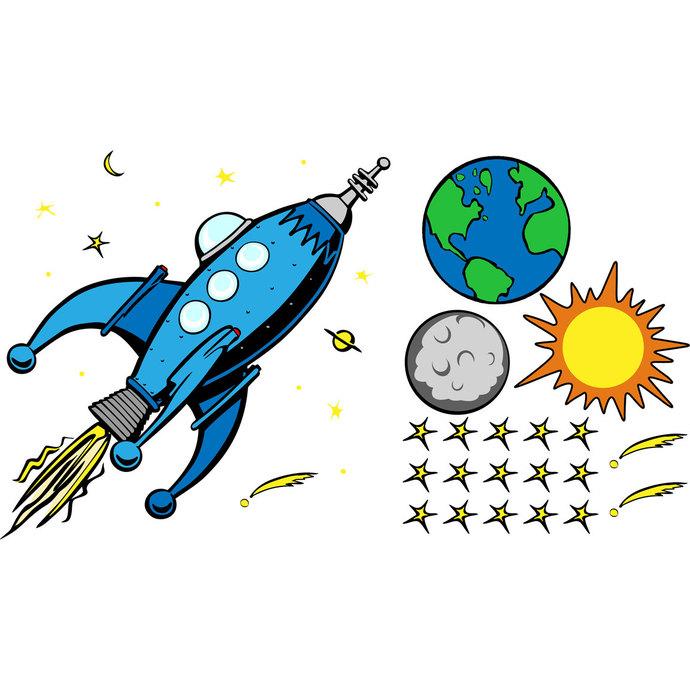 690x690 Vintage Comic Style Rocket Earth Moon Sun Wilsongraphics