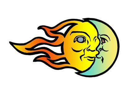 450x298 Coolest Moon And Sun Clipart