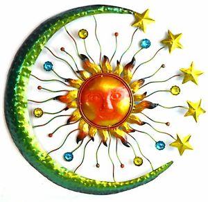 300x291 3d Sun Moon Stars Metal Wall Art Indoor Outdoor Hanging Sculpture