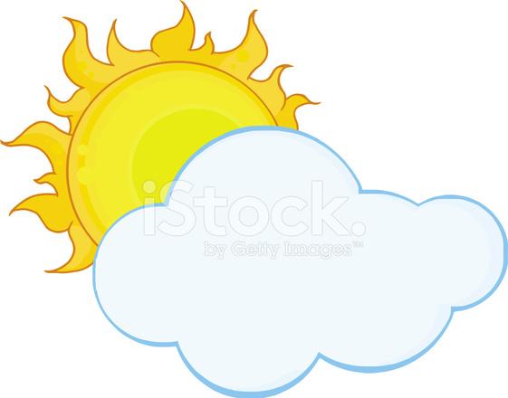 561x440 Sun Shining Hiding Behind Cloud Stock Vector