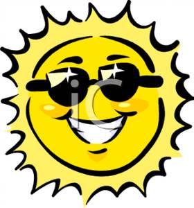 280x300 Sun With Sunglasses Clipart Clip Art