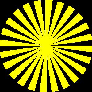 300x300 Yellow Sunburst Clipart