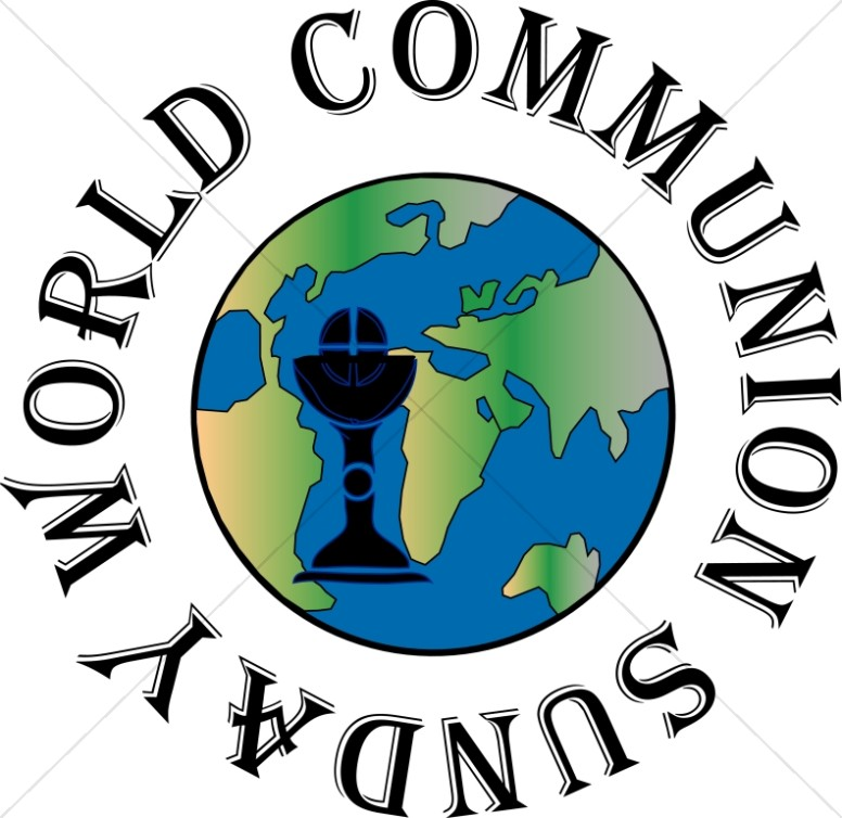 776x754 World Communion Sunday Globe Event Word Art