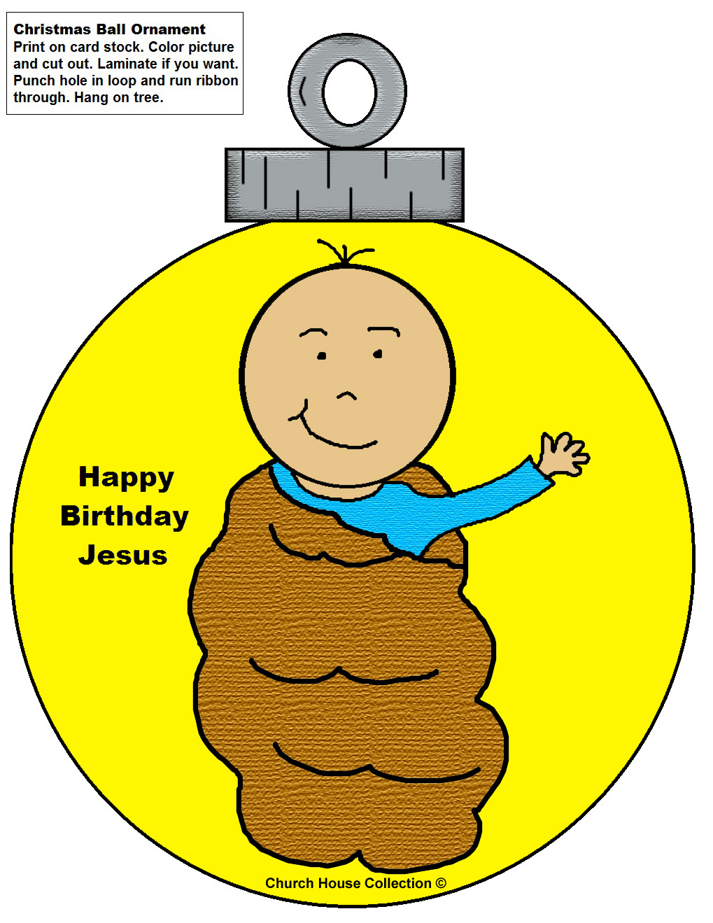 1019x1319 Baby Jesus Ornament Cutouts Craft