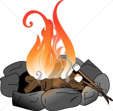 388x383 Image Of Campfire Clip Art