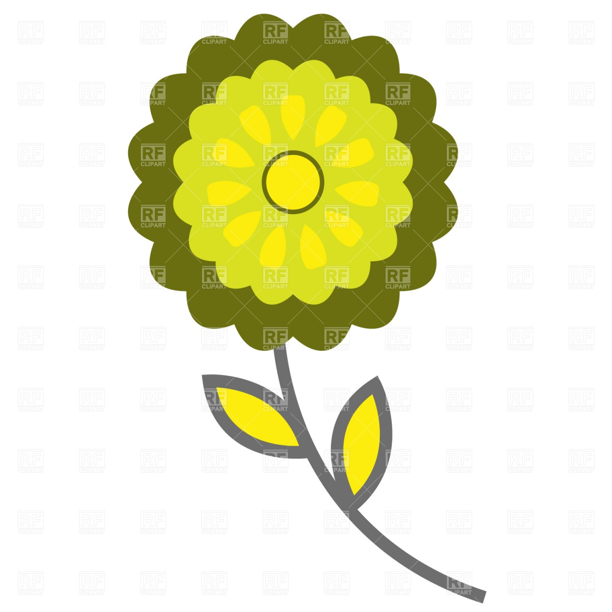 1200x1200 Symbolic Flower Icon Royalty Free Vector Clip Art Image