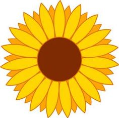 236x233 Free Printable Sunflower Stencils Sunflower Clip Art