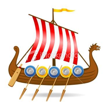 375x380 Viking Boats Clipart