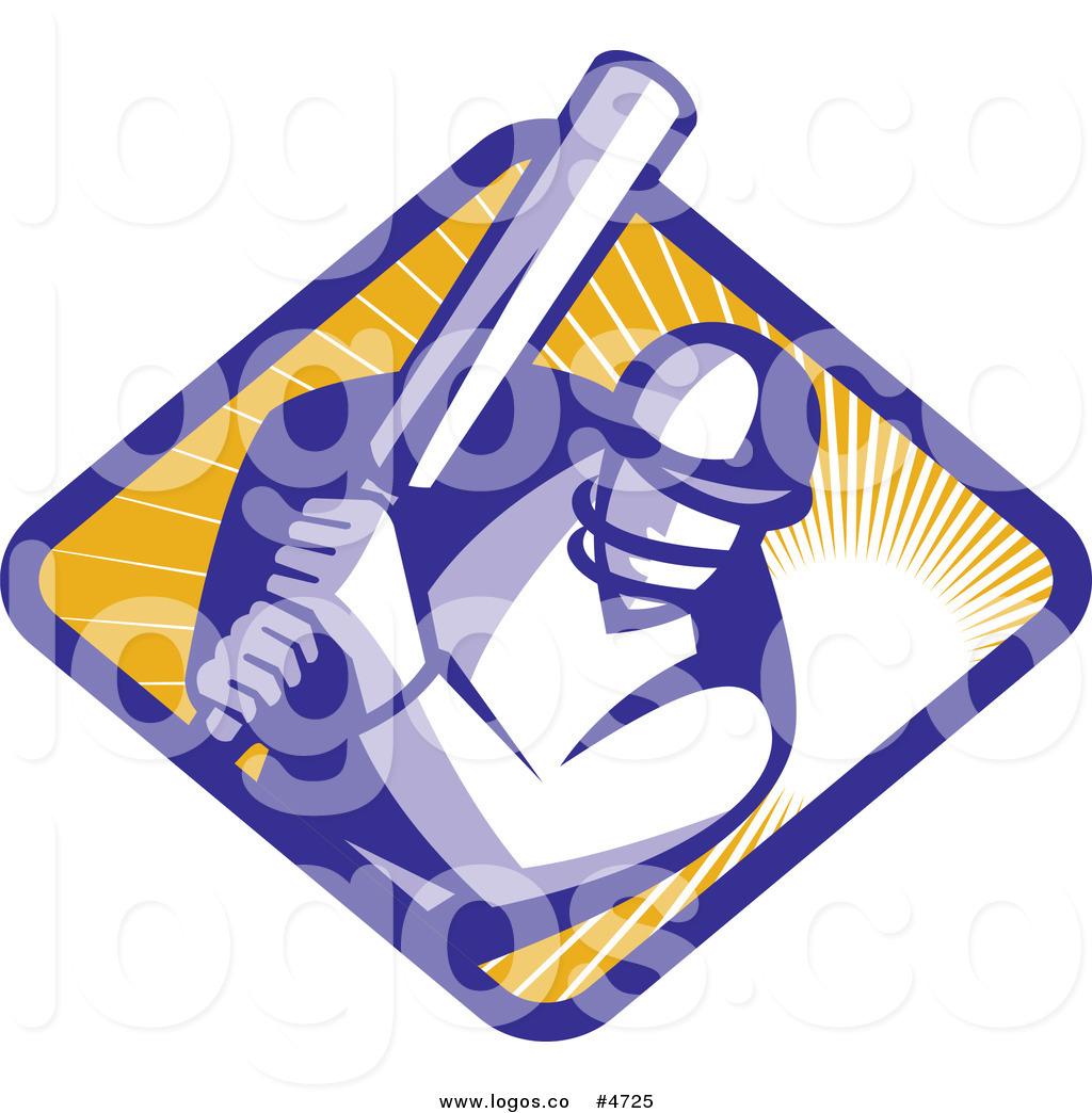 1024x1044 Royalty Free Clip Art Vector Logo Of A Cricket Player Batsman Over