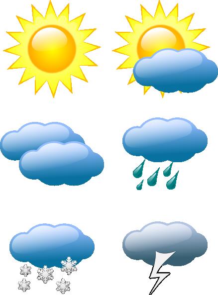 438x593 Sunny Weather Clip Art Weather Symbols Clip Art Calendar Ideas