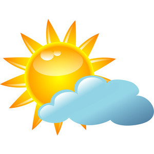 300x300 Partly Sunny Weather Clip Art