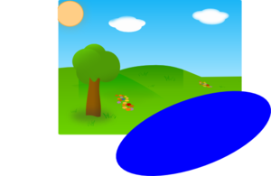 300x195 Sunny Day, With Lake (Just Needed To Add A Lake To The Previous