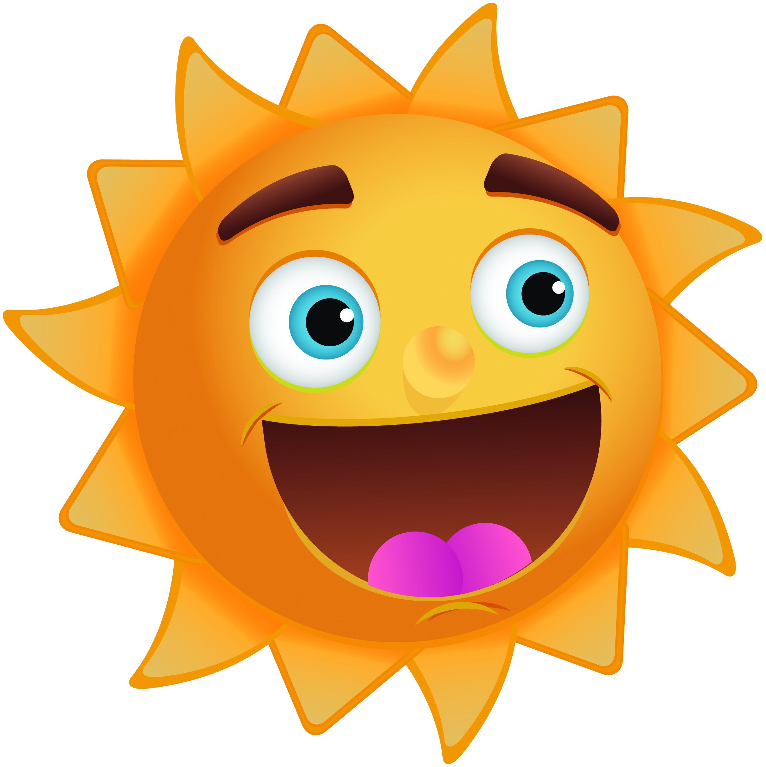 2440x2443 Sunny Day Clipart Image A Smiling
