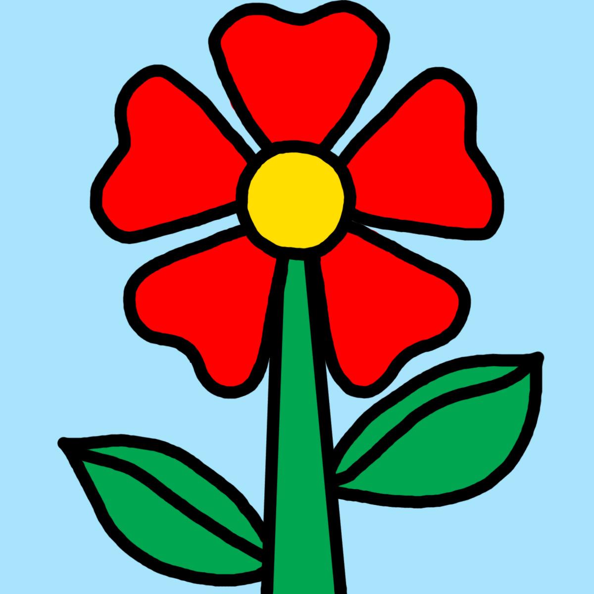 1200x1200 Clip Art Daisy Sunny Day (Bampw) Cartoon Flower Spring
