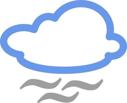 425x344 Free Download Of Cloudy Weather Symbols Clip Art Vector Graphic
