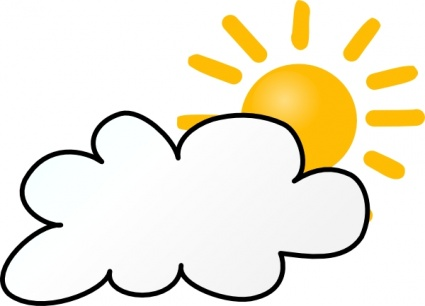 425x306 Free Download Of Sunny Partly Cloudy Weather Clip Art Vector