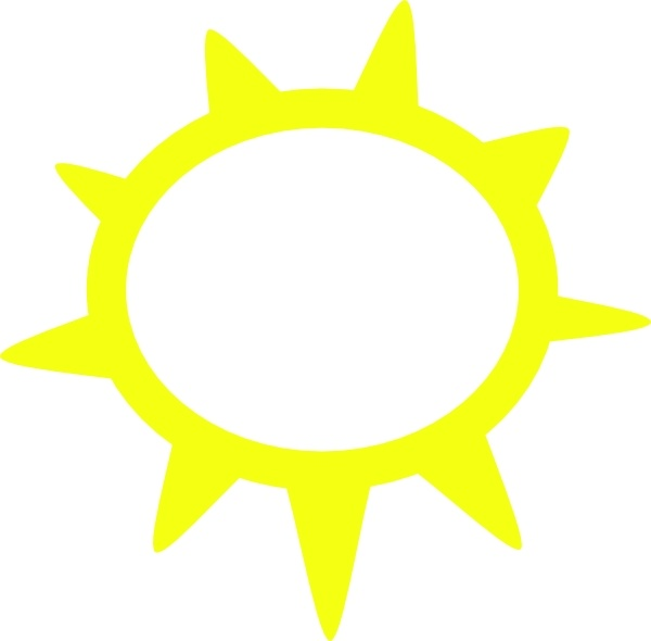 600x590 Sunny Weather Symbols Clip Art Free Vector In Open Office Drawing