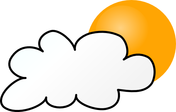 600x383 Cloudy Weather Clipart Collection