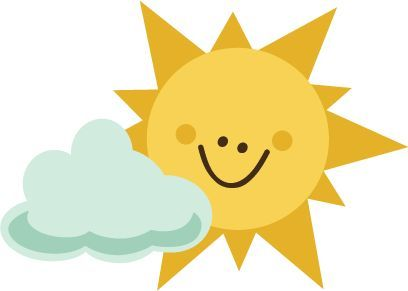 408x291 Scrapbooking Summer Svg Sun With Cloud Svg File For Scrapbooking